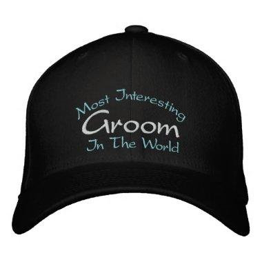 Most Interesting Groom In The World Wedding Embroidered Baseball Hat