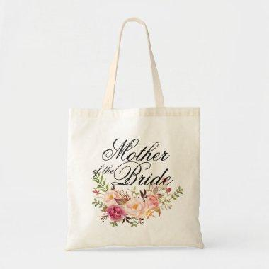 Mother of the Bride Elegant Rustic Floral Tote Bag