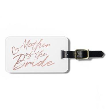 Mother of the Bride - Rose Gold faux foil Luggage Tag
