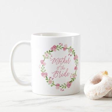 Mother of the Bride Watercolor Wreath Mug