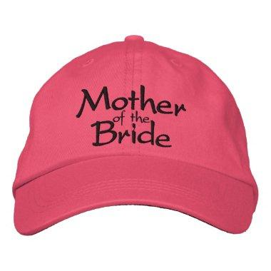 Mother of the Bride Wedding Embroidered Baseball Hat