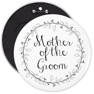 Mother of the Groom Bridal party name tag Button