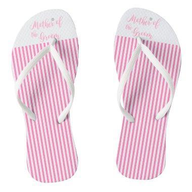 Mother of the Groom, Bridal,Wedding, Pink Cute Flip Flops