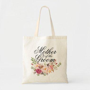 Mother of the Groom Elegant Rustic Floral Tote Bag