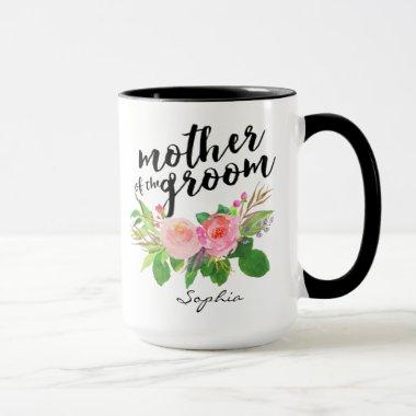 Mother of the Groom Watercolor Floral Personalized Mug