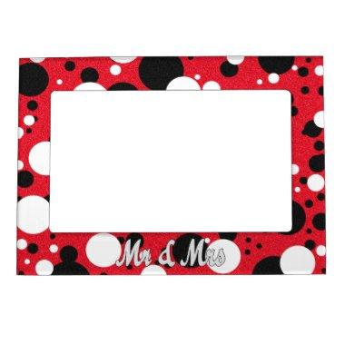 Mouse Party Mr. & Mrs. Bridal Shower Party Favor Magnetic Frame