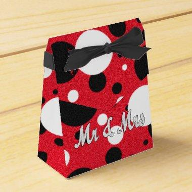 Mouse Party Wedding Mr & Mrs Polka Dot Reception Favor Box