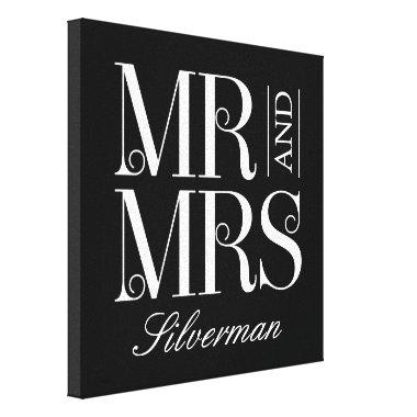 Mr and Mrs Custom Canvas