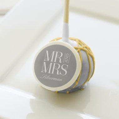 Mr and Mrs Custom Wedding Cake Pops