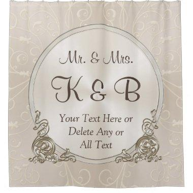 Mr and Mrs Personalized Shower Curtain