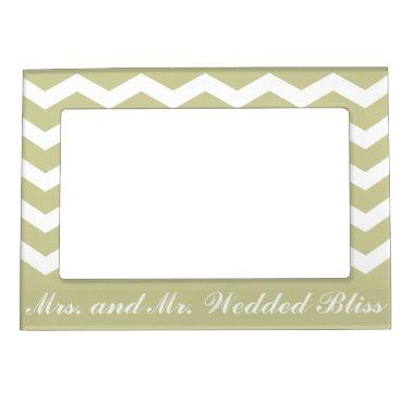 Mr. and Mrs. Wedded Bliss Magnetic Frame