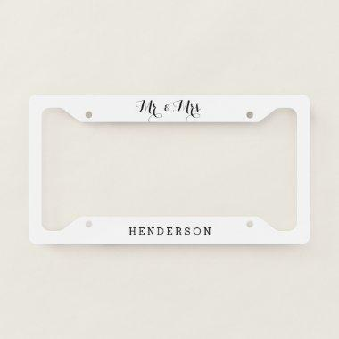 Mr And Mrs Wedding License Plate Frame