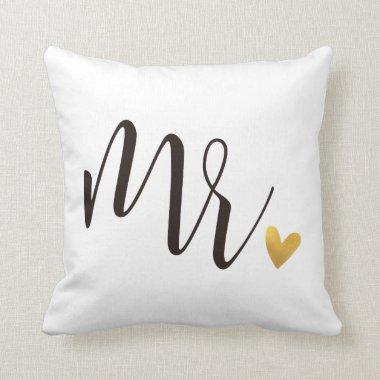 Mr.|Mr.& Mrs.Wedding Gift Throw Pillow