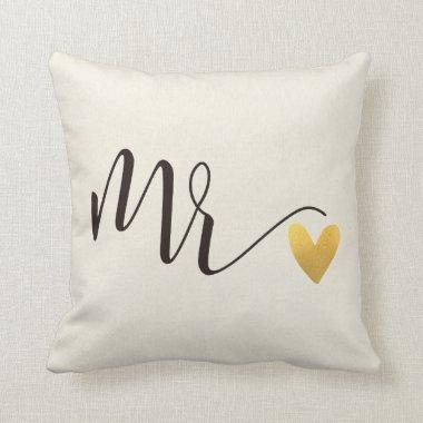 Mr.|Mr.&Mrs.Wedding Throw Pillow