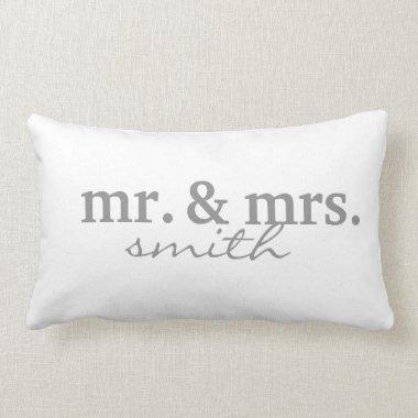 Mr & Mrs Personalized Lumbar Pillow