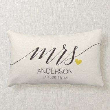 Mr.& Mrs. Personalized Wedding Gift-2 Lumbar Pillow