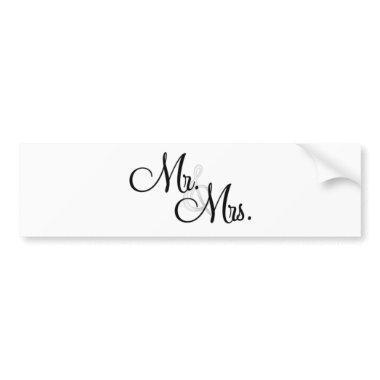 Mr. & Mrs. Unique Items Bumper Sticker
