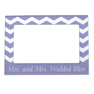 Mrs. and Mrs. Wedded Bliss Magnetic Photo Frame
