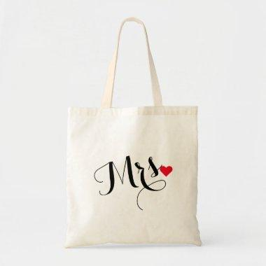 Mrs Bride To Be Wifey Wedding Bridal Shower Tote