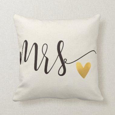 Mrs. Mr.&Mrs.Wedding Throw Pillow