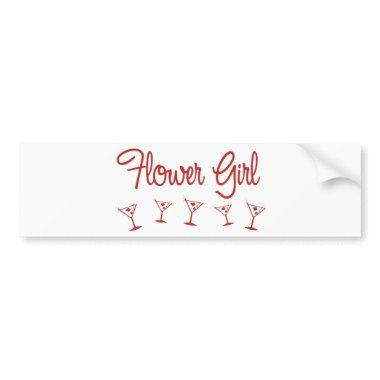 MultiMartini-FlowerGirl-Red Bumper Sticker