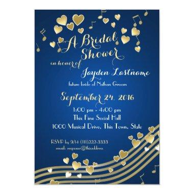 Musical Hearts Bridal Shower Invitations