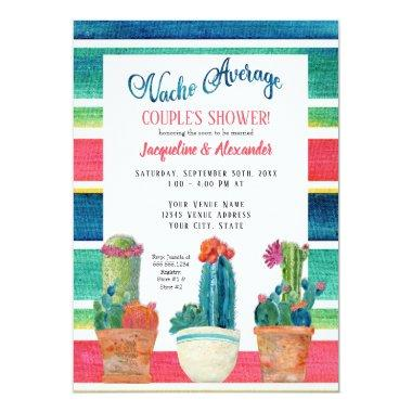 Nacho Average Couples Shower Floral Desert Cactus