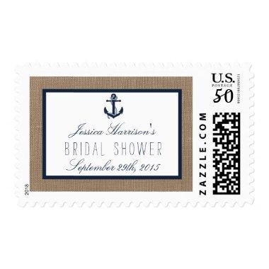 Nautical Navy Anchor Beach  Postage