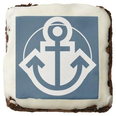 Nautical Navy Anchor Brownie
