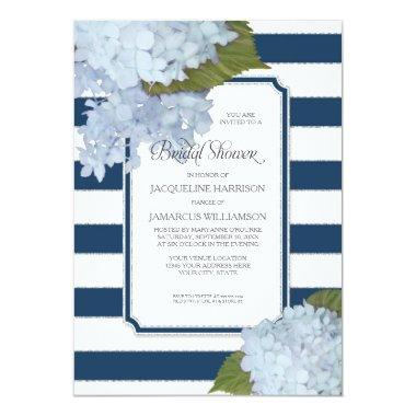 Nautical Navy Blue Hydrangea Modern