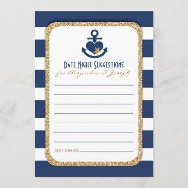 Nautical Navy & Gold Date Night Suggestions
