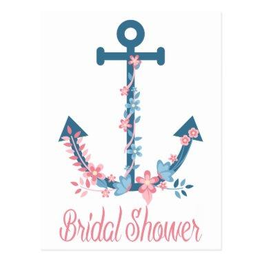 Nautical Pink & Blue  Anchor Floral Post