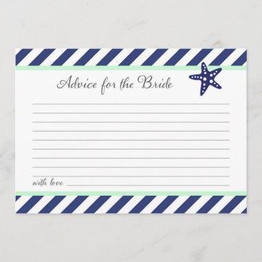 Nautical Starfish Advice For the Bride