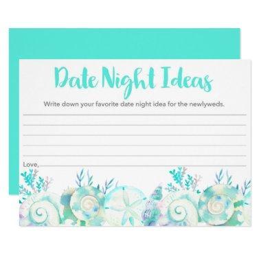 Nautical Watercolor Seashell Date Night Ideas