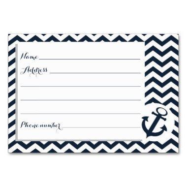 Nautical Zigzag Pattern Advice Cards