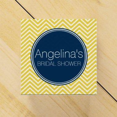 Navy Blue and Yellow Chevrons  Favor Box