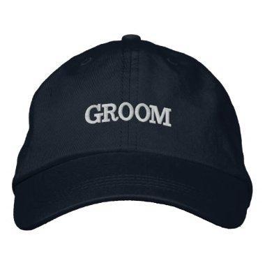 Navy Blue Groom Adjustable Hat