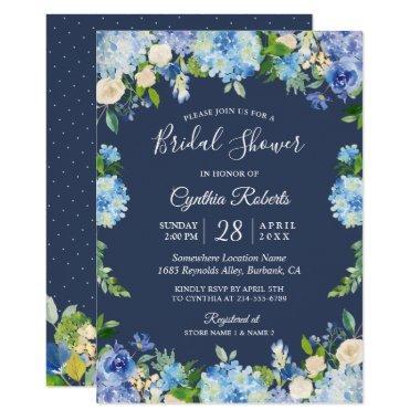 Navy Blue Hydrangea Floral Gorgeous