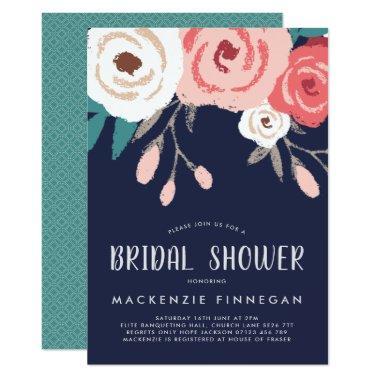 Coral bridal shower invitations page 14 unique bridal shower navy coral floral invite filmwisefo