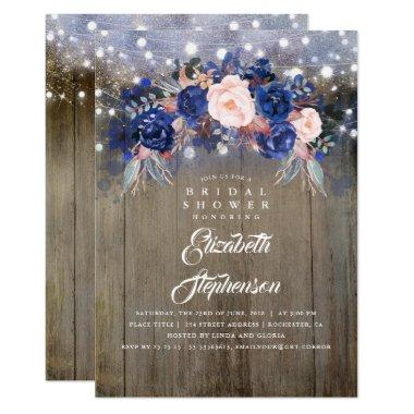 Navy Floral Rustic