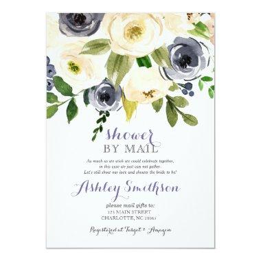 Navy Shower by Mail bridal shower Invitations