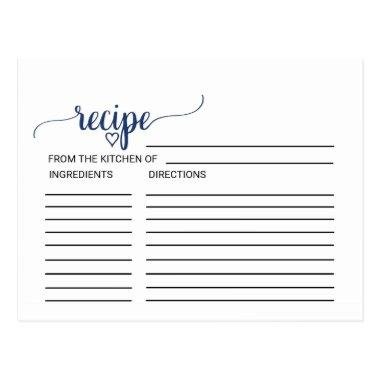 Navy Simple Calligraphy  Recipe