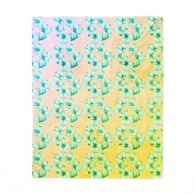 NEW-Bridal-Spring--Bouquet-Med_Fleece_Blanket Fleece Blanket