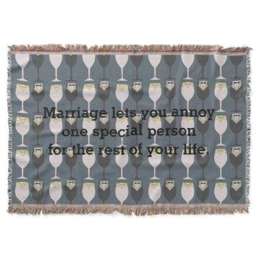 Newly Wed Throw Blanket