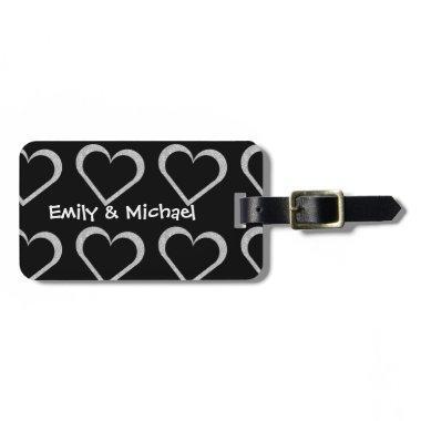Newlywed Chalkboard Heart Luggage Tags