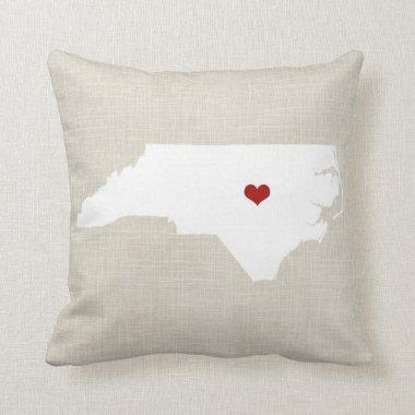 "North Carolina New Home State Pillow 16"" x 16"""
