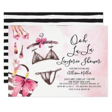 Ooh La La Lingerie Bridal Shower Invitations