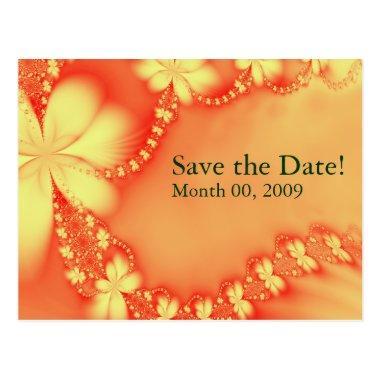 Orange Floral Jewel, Save the Date! Post