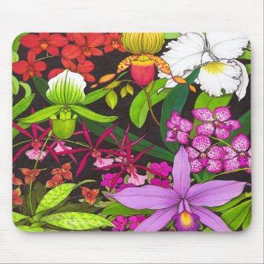 Orchid Garden Mousepad