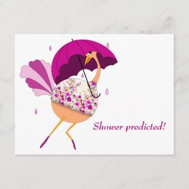 Ostrich Saves the Date for a Shower Announcement PostInvitations
